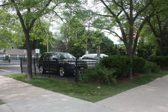 Ettenheim's Spite House is now the site of a parking lot. Photo by Carl Baehr.