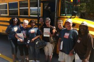 Lead organizer Keisha Krumm and volunteers prepare to embark on field work. Photo courtesy of Common Ground.