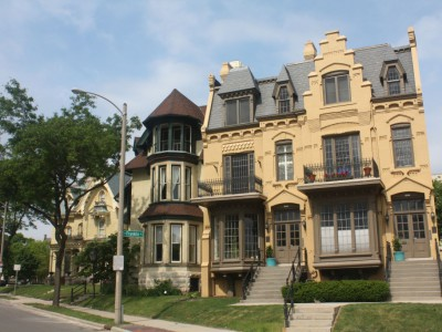 "City Streets: Downer Avenue and Two ""Spite"" Houses"
