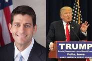 Paul Ryan and Donald Trump.