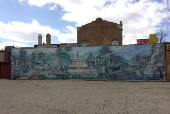 Phan's Garden Mural is representative of Clarke Square's diversity. Photo courtesy of the Clarke Square Neighborhood Initiative.