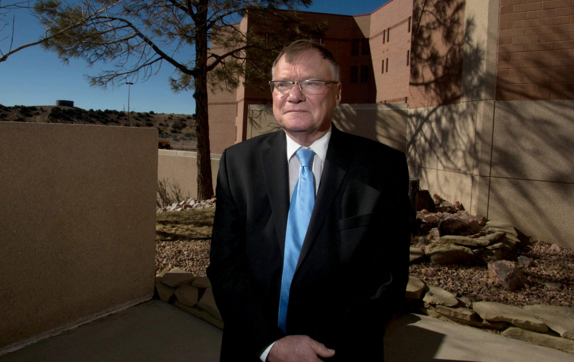 """Former Wisconsin Corrections Secretary Rick Raemisch stands outside the Colorado State Penitentiary in Cañ–on City where he famously spent 20 hours in solitary confinement, formerly known as administrative segregation, in 2014. Raemisch now heads the the Colorado Department of Corrections. Says Raemisch: """"I'll tell you right now, segregation doesn't work — at all."""" Photo by Jen Friedberg for the Wisconsin Center for Investigative Journalism."""