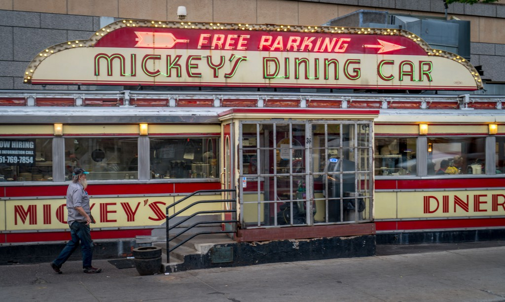 Good food is big part of the Train, Train, Train trip, and what better breakfast place than Mickey's Diner to kick off the trip from St. Paul. Mickey's has been open 24 hours a day, 365 days a year since 1948.