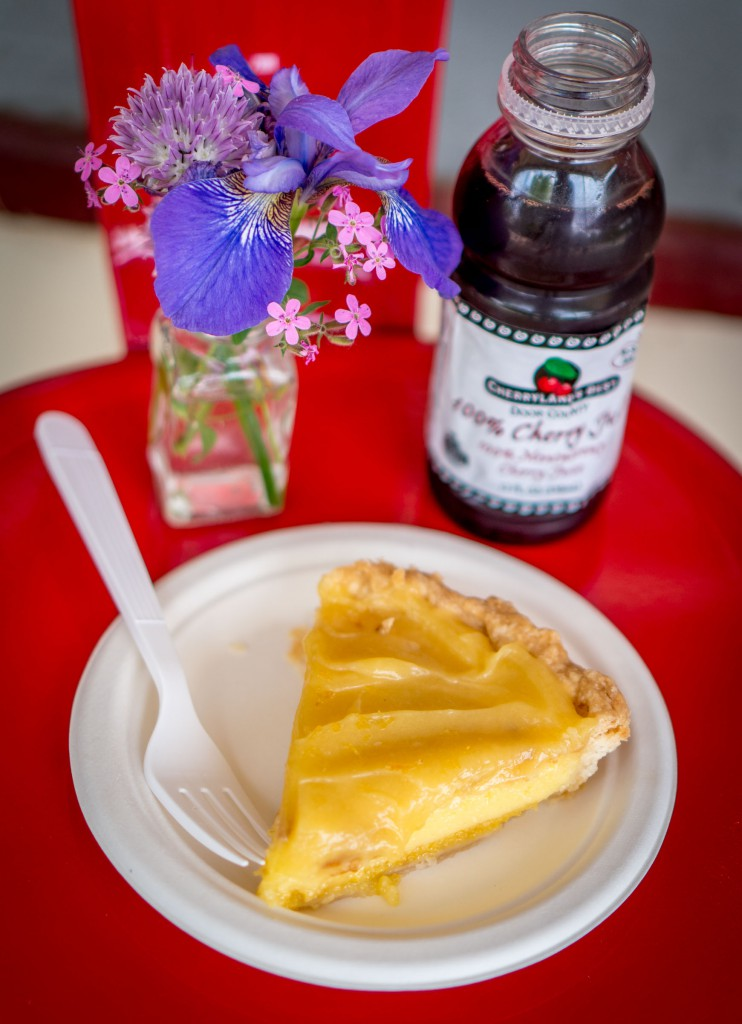 For the pie.... Double lemon with Door County Cherry Juice was my choice at the Stockholm Pie and General Store.