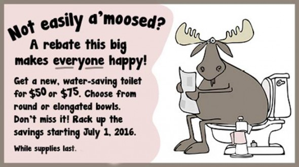Water Saving Toilets for $50 & $75