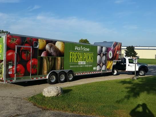 Fresh Picks Mobile Market. Photo courtesy of the Hunger Task Force.
