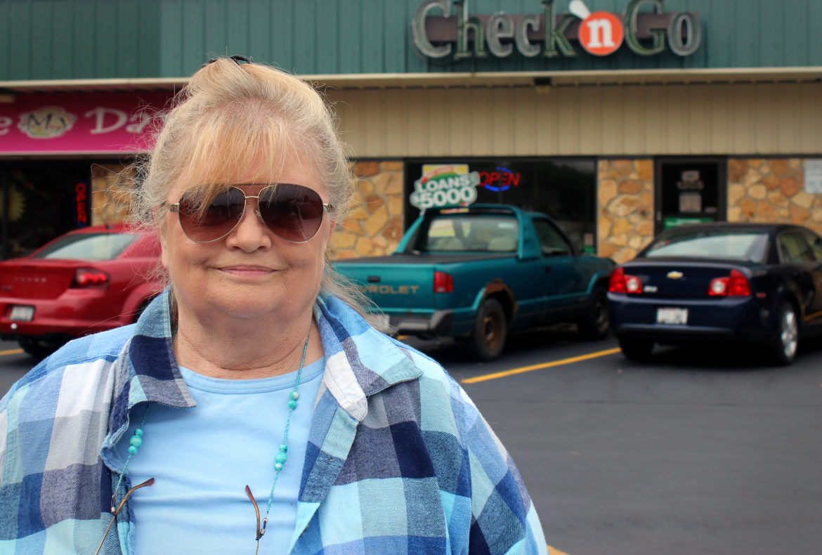 The Check 'n Go store where Michelle Warne took out loans is about three blocks from her house in Green Bay. According to the Wisconsin Department of Financial Institutions, there were 93,740 payday loans made in 2015 — a sharp drop from previous years. State lawmakers changed the definition of payday loans in 2011. Photo by Bridgit Bowden of Wisconsin Public Radio.