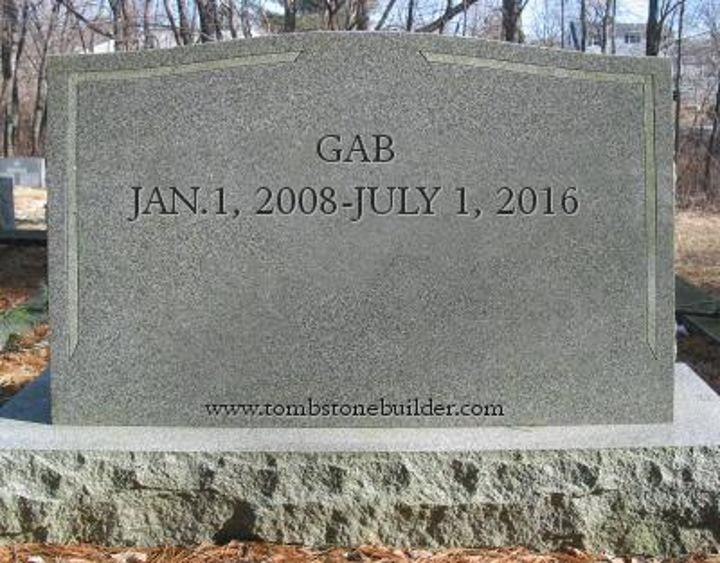 R.I.P. GAB