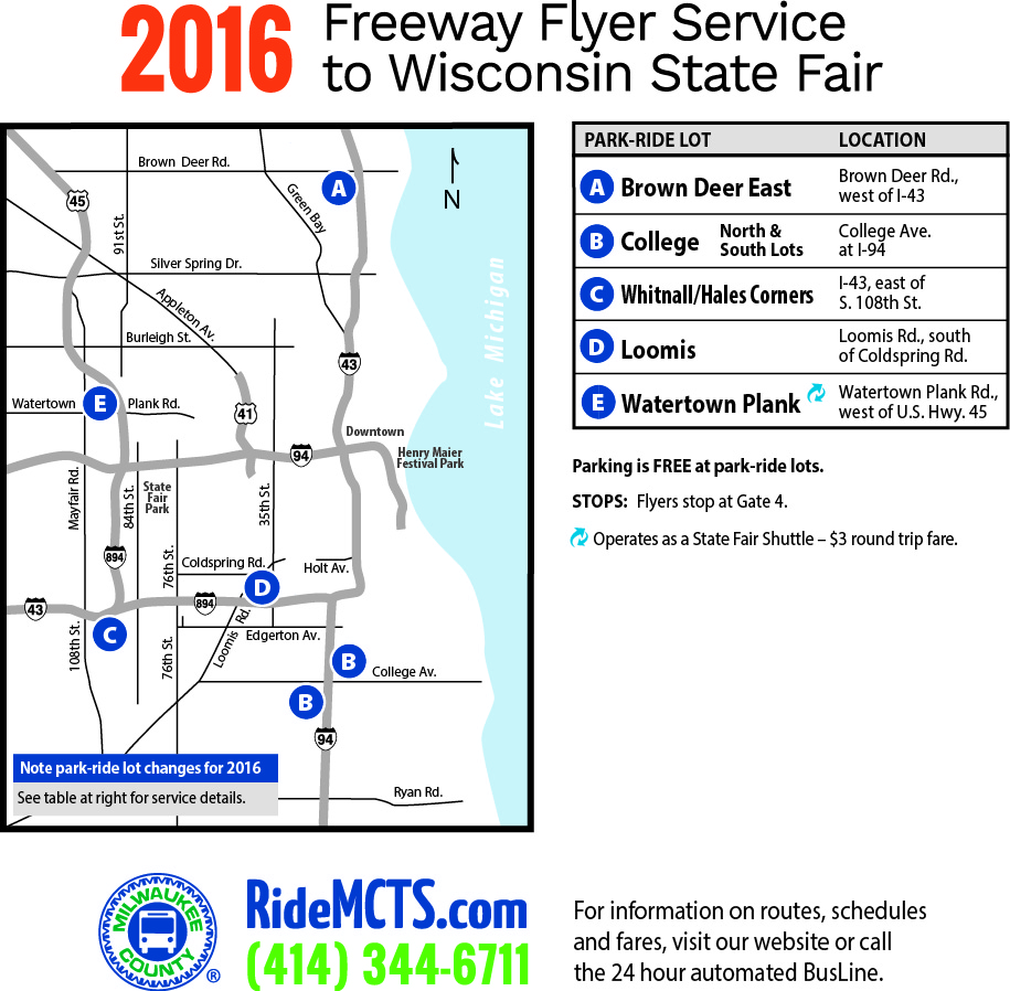 2016 Freeway Flyer Service to Wisconsin State Fair