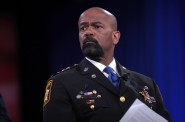 Sheriff David Clarke speaking at the 2016 Conservative Political Action Conference (CPAC) in National Harbor, Maryland. Photo by Gage Skidmore.
