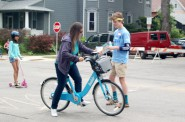 Bublr Bikes are now available at Cesar Chavez Drive and Washington Street in Walker Square. Photo By Rebecca Carballo.