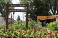 University of Wisconsin-Extension's community gardens can be found in many city neighborhoods. Pictured is the Journey House Community Garden in Clarke Square. Photo by Rebecca Carballo.