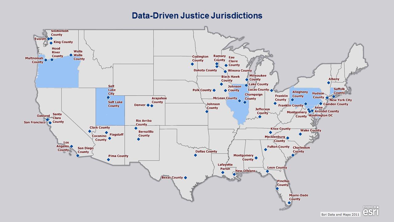 Data-Driven Justice Jurisdictions