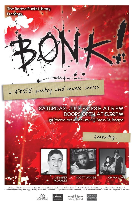 Racine Art Museum to host BONK! Series
