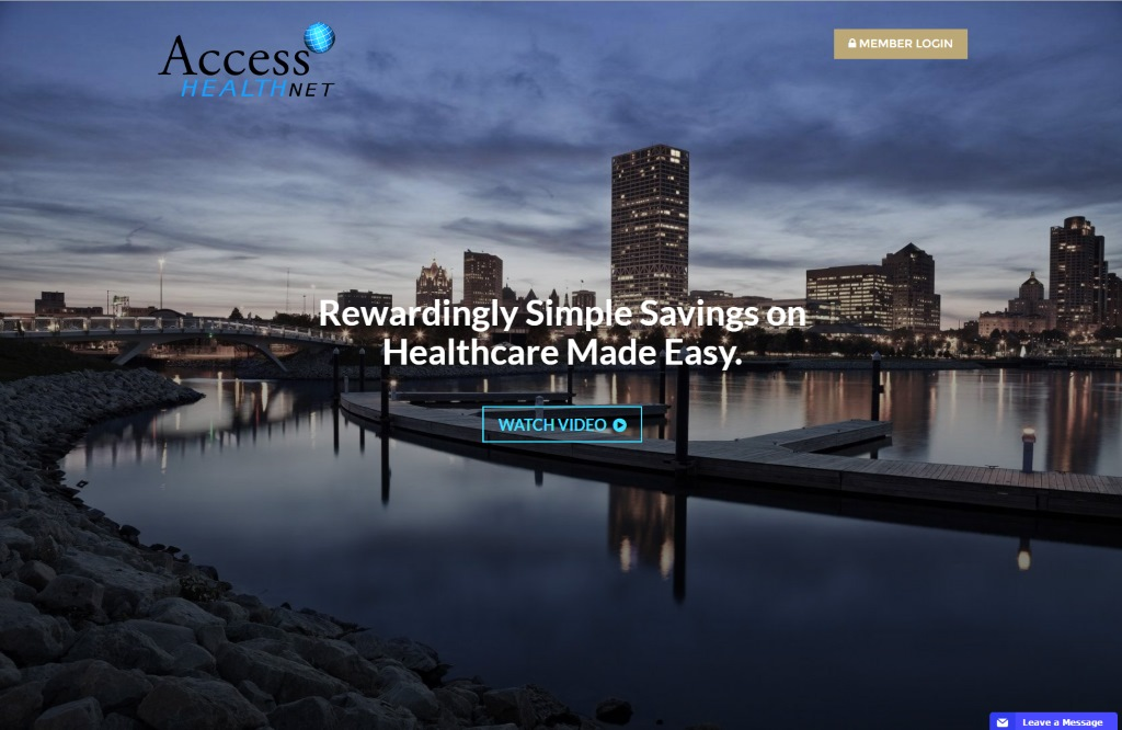Access HealthNet homepage.