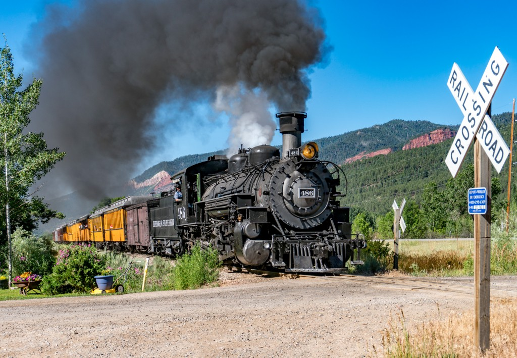 Lots of tourists come to Durango to ride the train to Silverton and back.