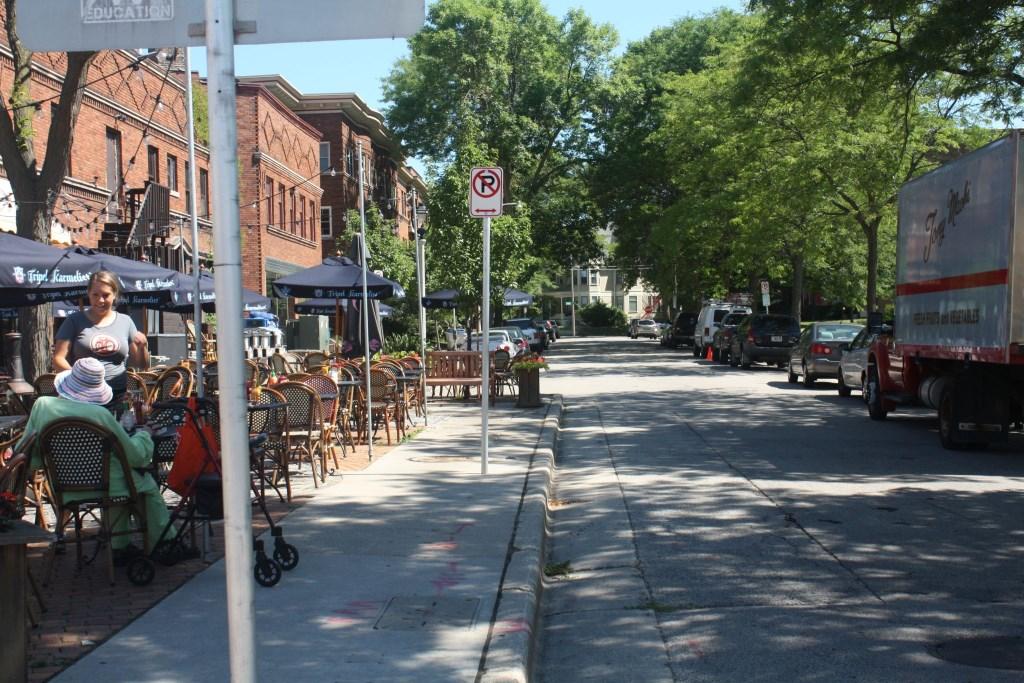 Hackett Avenue at Downer Avenue. Photo by Carl Baehr.