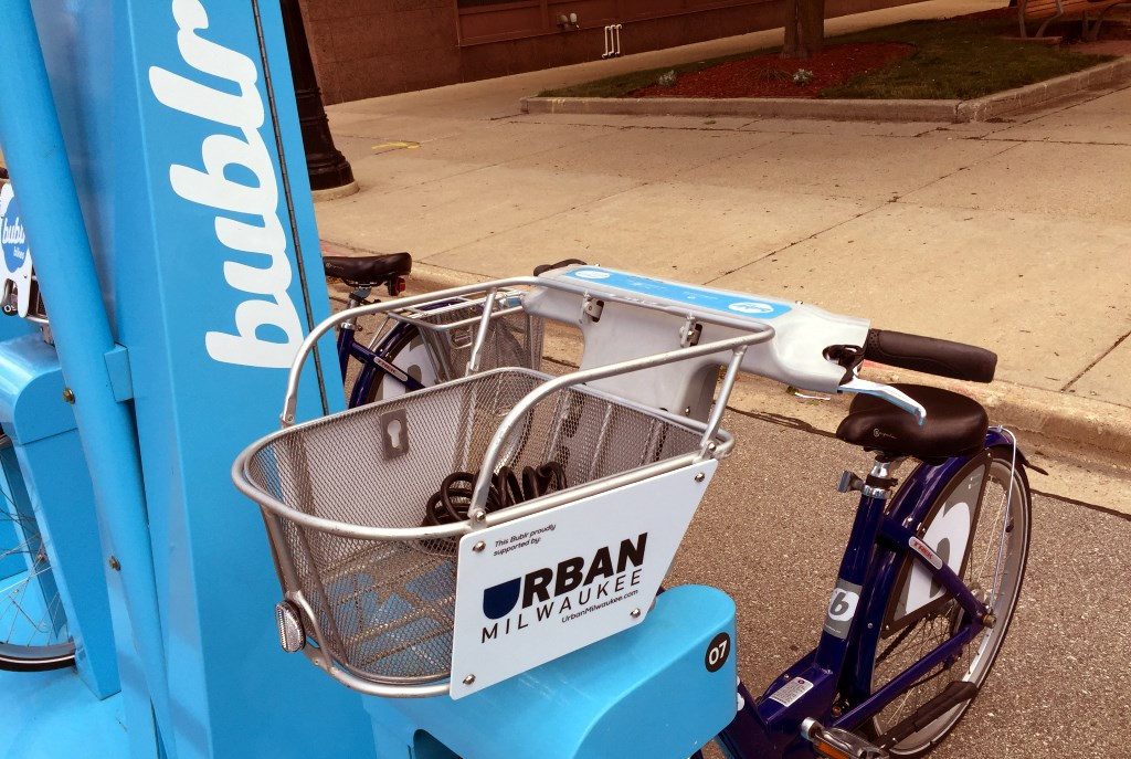 Ride an Urban Milwaukee Bublr. Photo by Dave Reid.