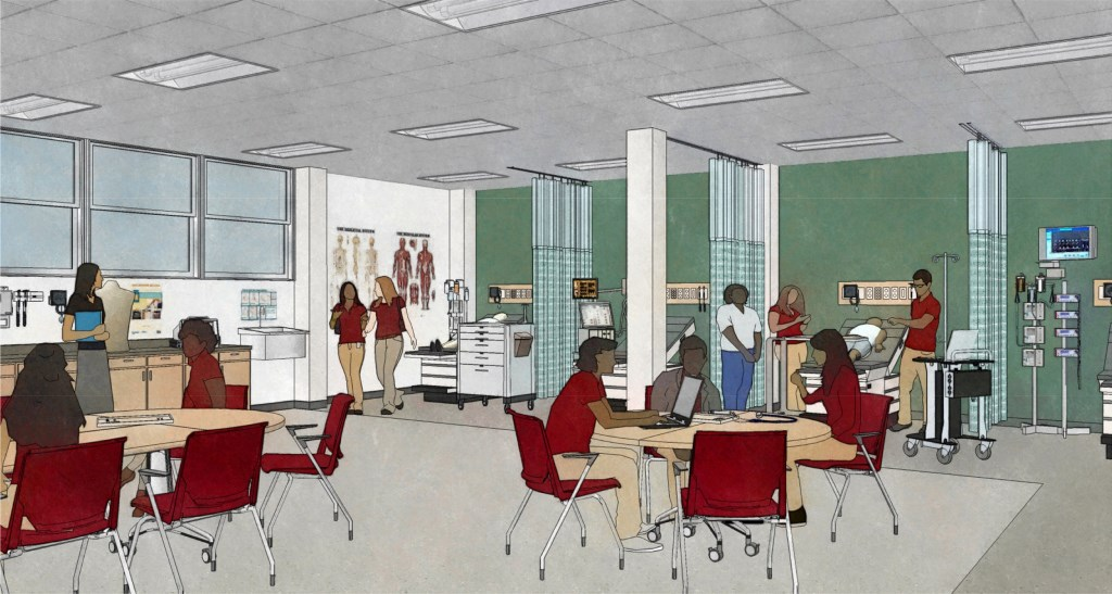 Learning Center. Rendering by Uihlein Wilson Architects.
