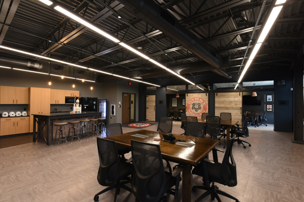 Pabst Brewing Company's satellite office. Photo courtesy of Madisen Maher Architects.