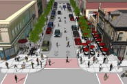 A rendering of S. 5th St. Bump-outs will not be added.