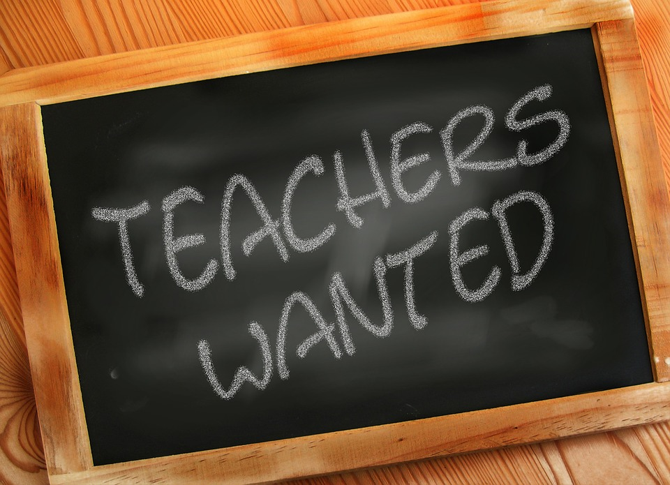 Teachers Wanted. Image is in the Public Domain.