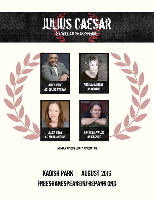 "Announcing the cast of free Shakespeare in the Park's ""Julius Caesar"""