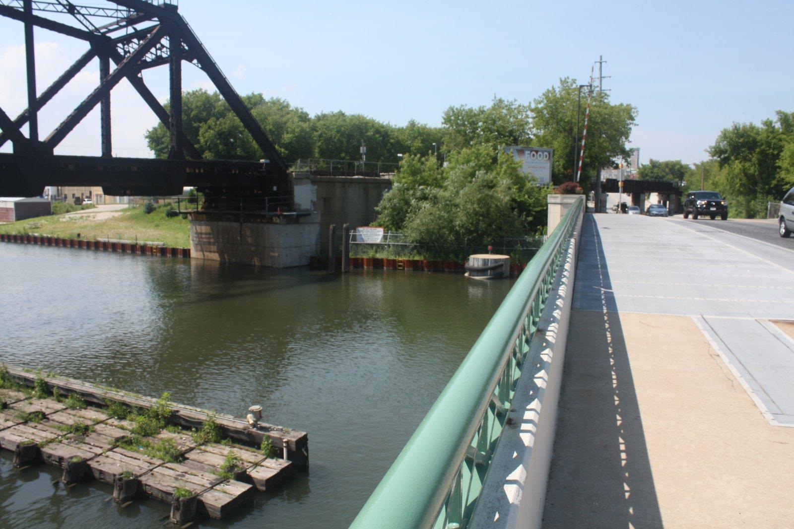 Kinnickinnic River bridges. Photo by Carl Baehr.