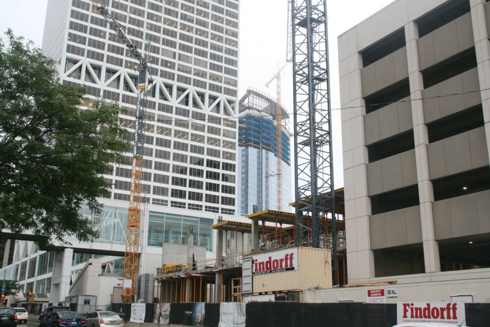 The Westin Hotel Rises in front of the US Bank Center