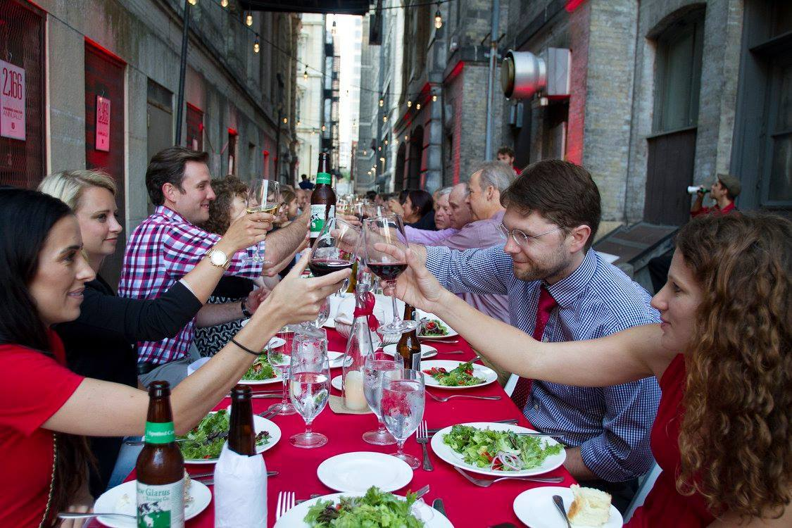 The Salvation Army's Echelon Hosts Dinner in the Alley. Photo courtesy of Echelon MKE.