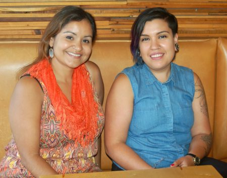 Claudia Guzmán (left) and Jeanette Martín are co-curating Cine Sin Fronteras, a new program of Milwaukee Film. Photo by Edgar Mendez.