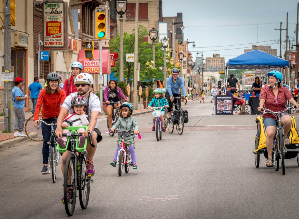 Ciclovia MKE is perfect for families.