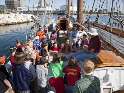 Joe Ewing volunteers in many roles on board ship