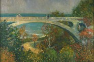 George Raab, Lake Park, Milwaukee in Autumn, Oil on canvas, n.d., Gift of the Helen Raab Estate, Museum of Wisconsin Art, 1997-11.