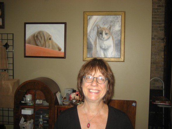 French will continue with her pet portrait business. Photo by Michael Horne.