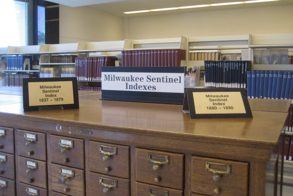 Milwaukee Sentinel Indexes. Photo by Michael Horne.
