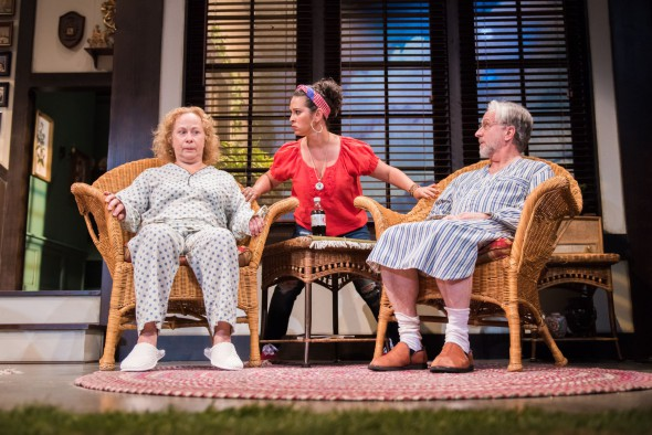 L-R: Jenny Wanasek as Sonia, Rána Roman as Cassandra, C. Michael Wright as Vanya. Photo by Paul Ruffolo.