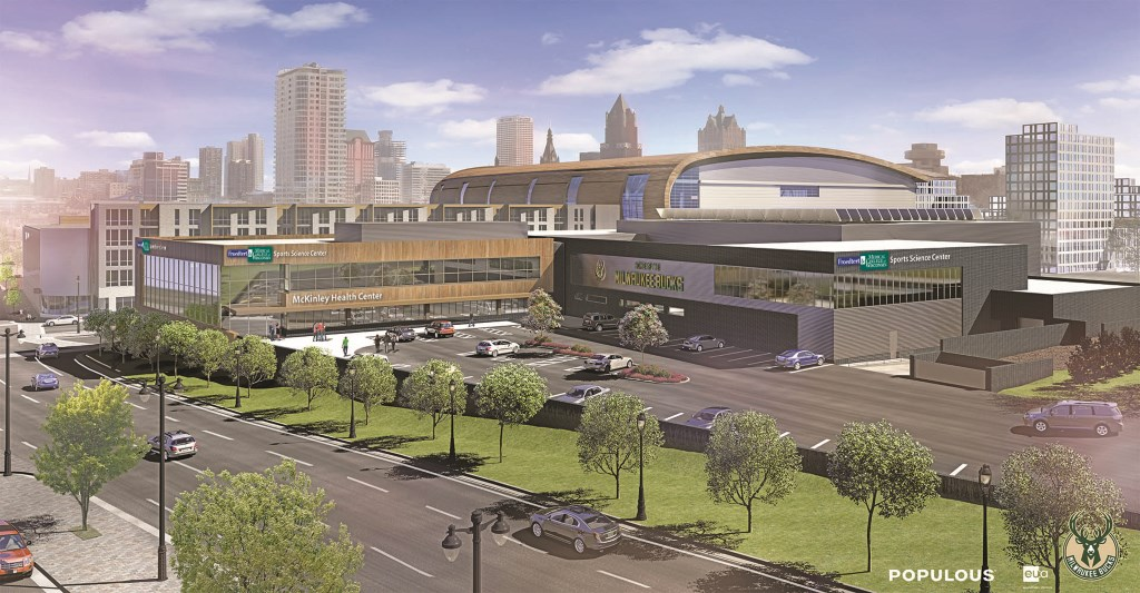 McKinley Health Center Rendering. Rendering by Populous.