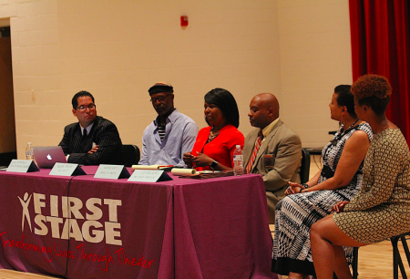Police-community relations was the focus of a public forum organized by First Stage, Milwaukee Fire and Police Commission, Friends of Bronzeville and Alderwoman Milele A. Coggs. Photo by Mark Doremus.