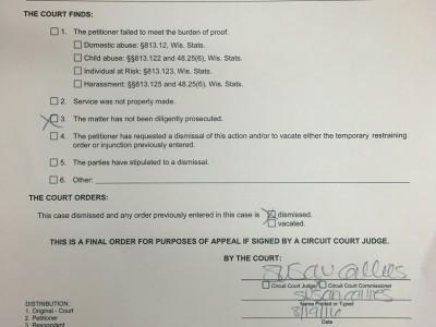 Court Dismisses Rep. Sinicki's Request for Restraining Order Against Primary Opponent's Husband