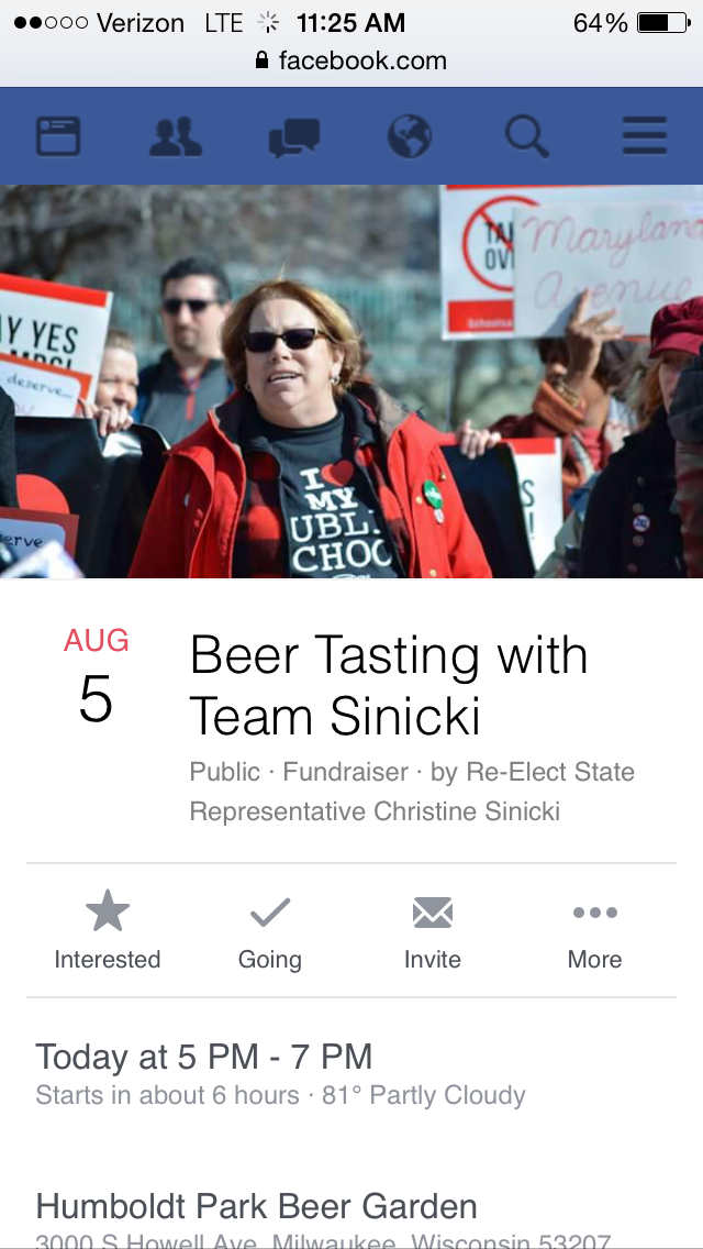 Beer Tasting with Team Sinicki