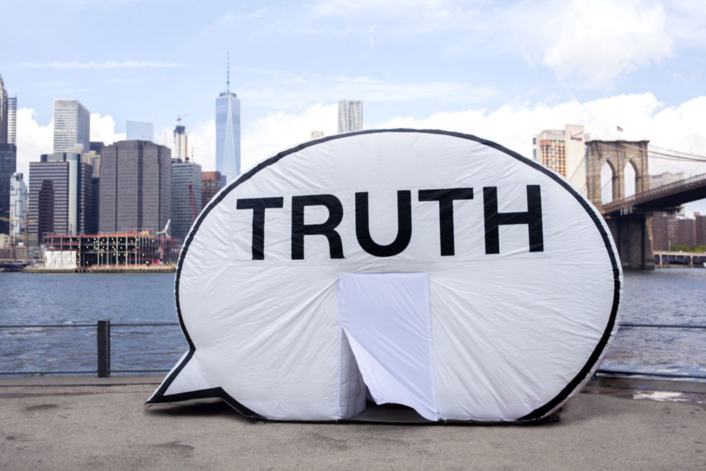 The Truth Booth. Photo courtesy of the Lynden Sculpture Garden.