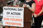 State Rep. Terese Berceau, D-Madison, speaks at the National Day of Action on Gun Violence Prevention rally in Madison on June 29. Photo by Alexandra Arriaga of the Wisconsin Center for Investigative Journalism.