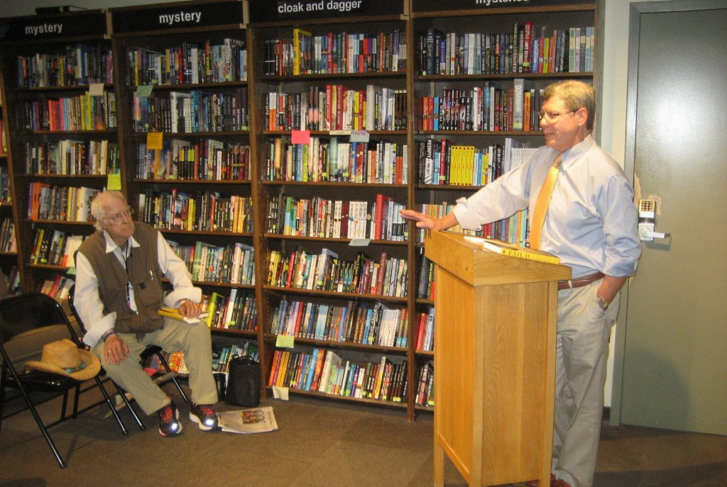 Charlie Sykes speaks at Boswell Book Company. Photo by Michael Horne.