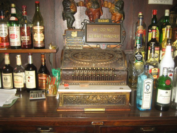 Ornate cash register. Photo by Michael Horne.