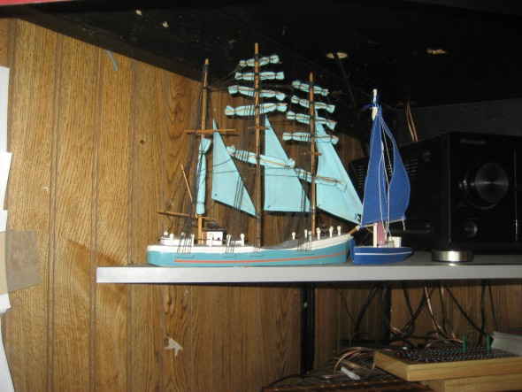Model boats. Photo by Michael Horne.