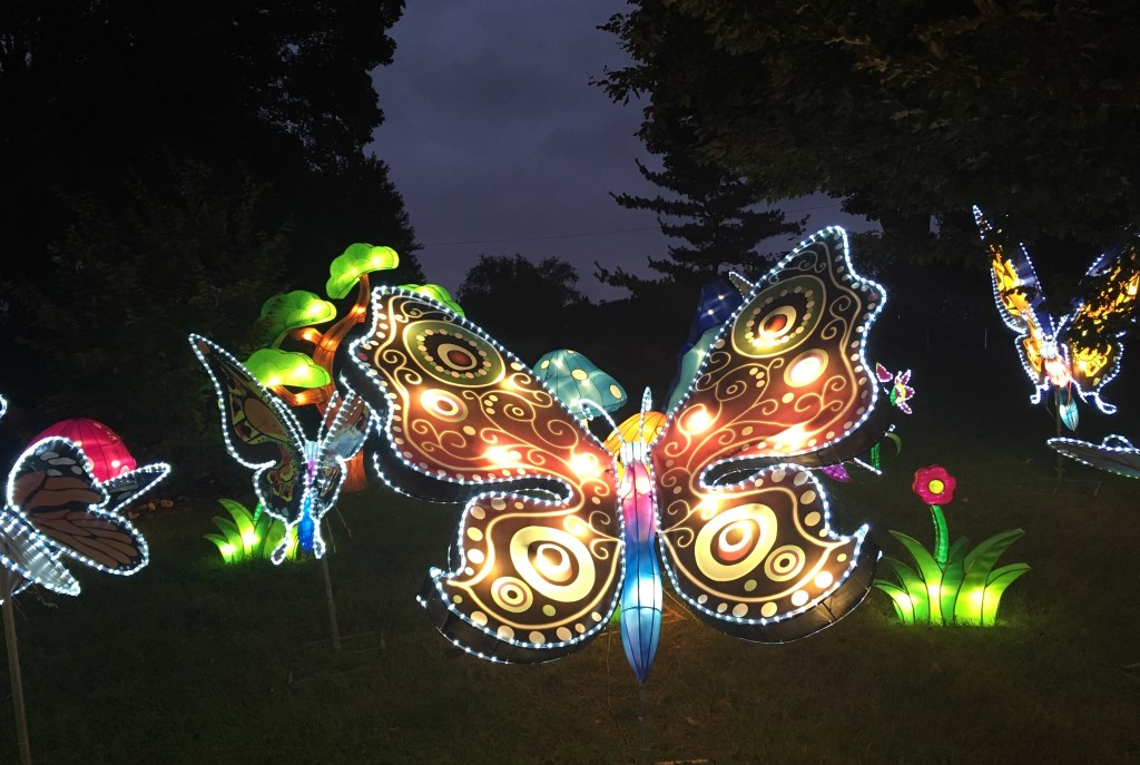 Chinese Lantern Festival Opening at Boerner Botanical Gardens, Oct. 1. Photo courtesy of Milwaukee County Parks.
