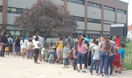 More than 1,800 people attended the Back to School Health Fair at South Division. Photo by Clara Hatcher.
