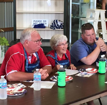 """""""Thank You to our Celebrity judges JoAnn -------, Luther Olson[Olsen]and Bryant ------ We sure hope you enjoyed your job today!!!""""- Lodi Agricultural Fair Facebook Page."""