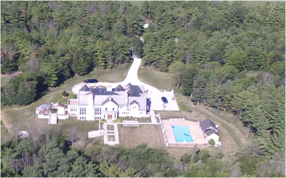 Aerial photo of Stroebel mansion